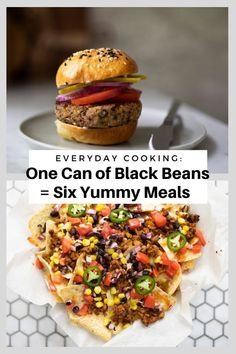 With summer in full swing, grab a can of black beans from your pantry and make these six super simple recipes for your next barbecue night. Black beans are loaded with nutrients and are oh-so versatile. From grilled black bean burgers to a seasonal black bean salad, we are sharing a variety of recipes you can create with a humble can of beans. Just be sure to rinse and drain the can of beans before using to remove any excess liquid or sodium. OK — here we go! Simple Recipes, Easy Dinner Recipes, Easy Meals, Slow Cooker Recipes, Beef Recipes, Cooking Recipes, Vegetarian Protein Sources, Bean Salad, Kitchen Recipes