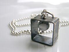Oxidezed silver necklace