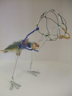 Year 8 project demo sample wire bird sculpture made by 68creative