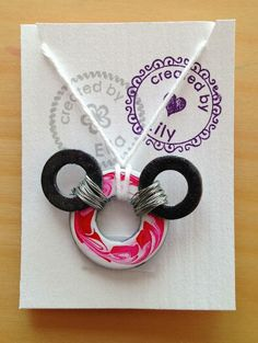 Holly's Arts and Crafts Corner: Craft Project: DIY Nail Polish Wash Necklaces & Magnets...Mickey Mouse washer necklace