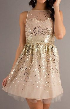 Gold Glitter Bridesmaid Dresses | gold glitter + blush