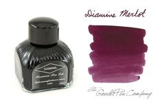 80ml bottle of Diamine Merlot fountain pen ink.<br><br><i>Please note: Diamine is currently transitioning to a new bottle  design. At this time our stock is mixed, so what you receive may vary  from what is pictured.</i><br>