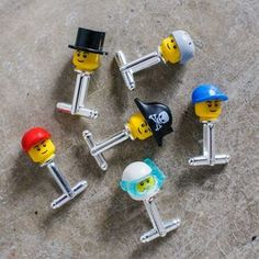 Lego Head Cufflinks - men's jewellery