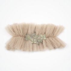 Glitterati designer wedding garter by Florrie Mitton