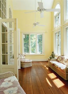 Home Decor - Sun Room - Decoration Ideas - Good Housekeeping Open up front living room wall to connect to sunporch sunroom ideas 20 Sunroom Decorating Ideas That'll Brighten Your Space Style At Home, Home Design, Interior Design, Modern Interior, Design Ideas, Sunroom Decorating, Sunroom Ideas, Decorating Ideas, Decor Ideas
