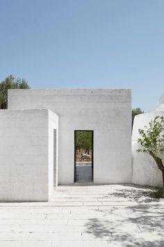 White architecture exterior design Italy Puglia Trullo renovation