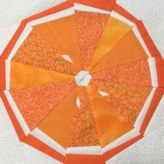 Sewing Quilts Citrus Slice Quilt Block Pattern - x Circle Quilts, Mini Quilts, Quilt Blocks, Lap Quilts, Paper Piecing Patterns, Quilt Patterns, Orange Quilt, Quilt Storage, Quilts