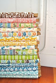 Love this fabric bundle -- there is even a VW bus on one!!