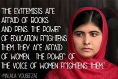 Facing New Death Threats From Taliban, Malala Inspires Us. #quotes #inspirational #education