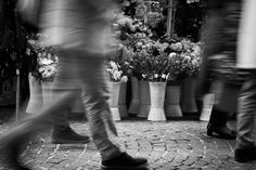 black and white / photo / mercato / flowers / photography
