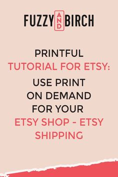 Need tips and ideas for your Etsy shop? Check out this Printful tutorial for print on demand for your Etsy shop - Etsy shipping. Starting An Etsy Business, Etsy Seo, Thing 1, Etsy Crafts, Etsy Shipping, Sell On Etsy, Make Money Blogging, Printer, Etsy Seller