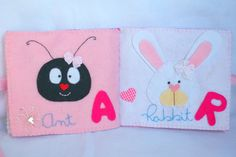 Personalised Kids Felt Name Book - Baby Girl. $43.00, via Etsy.