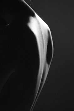 ☾ Midnight Dreams ☽  dreamy & dramatic black and white photography - curve of the back
