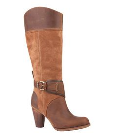 Another great find on #zulily! Light Brown Suede Nevali Tall Boot by Timberland #zulilyfinds