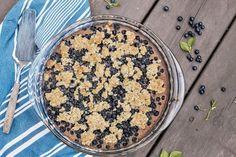 Mustikkapiirakka, jota voit syödä aamiaiseksi Vegetarian Recipes, Cooking Recipes, Acai Bowl, Baking, Breakfast, Cake, Food, Drink, Inspiration