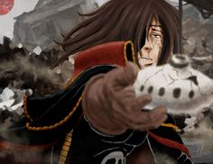 Thinkin' of what happen to Japan i came up with this idea. So I speed painted this for this very sad event. Captain Harlock found Toshiro's little girl . Art For Japan Captain Harlock, Speed Paint, Little Girls, Princess Zelda, Japan, Deviantart, Painting, Fictional Characters, Toddler Girls