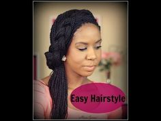 ▶ Easy Hairstyle ✿ Spring ✿ - Half Updo With Braid - Senegalese Twist - YouTube