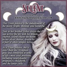Selene Greek Mythology, Greek Mythology Gods, Greek Gods And Goddesses, Divine Goddess, Moon Goddess, The Goddess, Luna Goddess, Artemis Goddess, Wicca Witchcraft