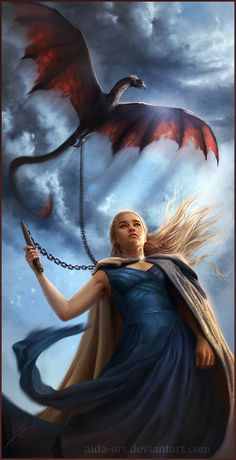 Mhysa by Inna-Vjuzhanina ~ Daenerys Targaryen ~ Game of Thrones Fan Art