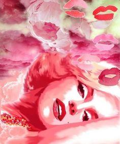 Marilyn #Pink kisses