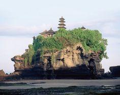 From Elle Decor - Tanah Lot temple, atop a rock off Bali's southwest coast.    Credit: © Patrick Ward/Corbis