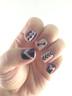 Easy to use Nail Vinyls that will leave you with a mani you can brag about. Chevron vinyls and more, Glam My Mani has the perfect collection for stunning DIY nail art. Tribal Print Nails, Tribal Nails, Aztec Nail Art, Nail Art Diy, Diy Nails, Gorgeous Nails, Love Nails, Manicure Y Pedicure, Cute Nail Designs