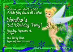 Free tinkerbell birthday invitation templates birthdays free printable tinkerbell birthday invitations 2016 filmwisefo Images