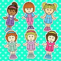 candy cute stickers to stick on all your stuff Vintage Humor, Vintage Toys, Funny Vintage, Polly Pocket 90s, Paper Doll Template, Pregnancy Gifts, Barbie, Kawaii Drawings, 90s Toys