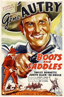 1937 movie posters | Boots and Saddles 1937 Poster.jpg