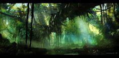 Resultado de imagen para environment artwork jungle