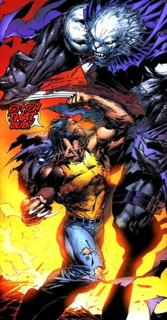 Wolverine vs The Beast (Possessed by Sublime) by Marc Silvestre