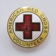 American RED CROSS Volunteer LMC Vintage Pin by ThoughtfulVintage, $15.00 #RedCross #volunteerism #thoughtfulvintage
