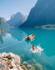 Lovatnet is a lake in the municipality of Stryn in Sogn og Fjordane county, Norway Camping Car France, Camping 3, Norway Camping, Norway Travel, Places To Travel, Places To See, Travel Destinations, Fjord, Tromso