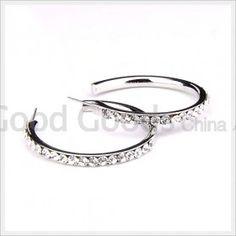 Czech Preciosa Earring Nails Imitation Platinum Plated Clubwear
