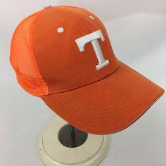 eb02b1838 University of Tennessee Snapback Hat Orange Mesh Embroidered T Cap Baseball  VTG
