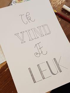 Gemaakt tijdens een #workshop #handlettering @Handlettering-enzo.nl Workshop, Bullet Journal, Letters, Paper Board, Atelier, Work Shop Garage, Letter, Lettering, Calligraphy