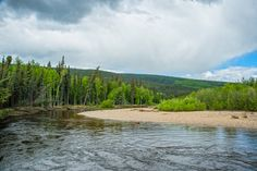 The Chatanika river located North East from Fairbanks, Alaska runs through some beautiful areas along the Steese Highway. And gives some great back drops when your trying to catch an Arctic Grayling during those long summer days. Photo by Sherman Hogue/FCVB