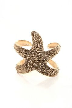 Starfish Cuff - Gold $18.00