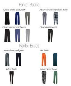 Building a Pants Wardrobe: pants, pants, and more pants. Everything you need for a complete pants wardrobe.
