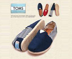 Navy University Rope Sole Classics TOMS Shoes Sale