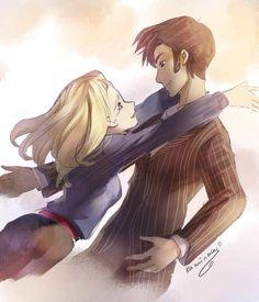 Doc/Rose <3 <3 - doctor-who Fan Art