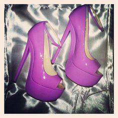 purple open toe heels