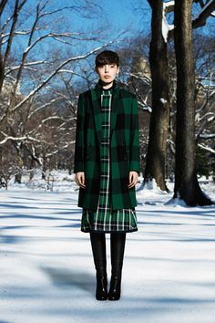 Plaid Coat + Dress - Sea   Fall 2014 Ready-to-Wear Collection   Style.com