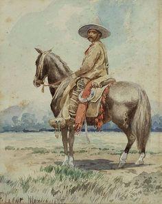 """""""Gaucho"""", signiert, bezeichnet und datiert: A. Lohr Mexico 1895"""