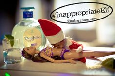 30 funny inappropriate elf on the shelf ahah so funny #humour #elfontheshelf #naughty