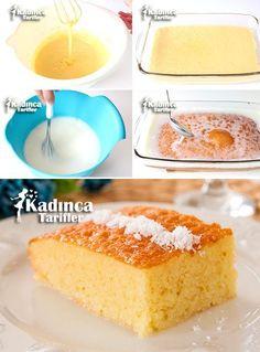 3 Dakika Tatlısı Tarifi Sorbet, Vanilla Cake, Family Meals, Tiramisu, Yogurt, Deserts, Muffin, Food And Drink, Cos