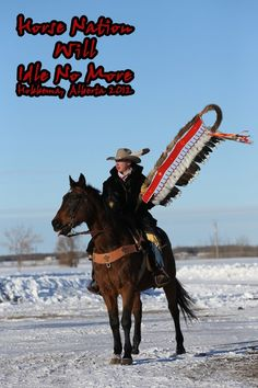 Horse Nation Idle No More, Hobbema, Alberta 2012 (photo: Bert Crowfoot)