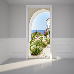 Door Wall Sticker Way into garden  Peel  Stick Repositionable Fabric Mural -- Check this awesome product by going to the link at the image.