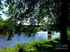 The River Ribble Photograph - Summer At The Riverside by Joan-Violet Stretch