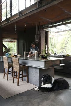 Indoor / outdoor, industrial kitchen